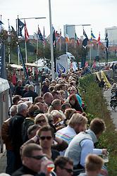 local crowds watching the race. Danish Open 2010, Bornholm, Denmark. World Match Racing Tour. photo: Loris von Siebenthal - WMRT