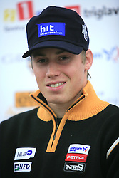 Matic Skube at press conference of Slovenian men and women alpine skiing national team before new season 2008/2009 in Hervis, City park, BTC, Ljubljana, Slovenia, on October 20, 2008.  (Photo by: Vid Ponikvar / Sportal Images).