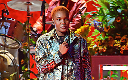 Arlo Parks performs during the Brit Awards 2021 at the O2 Arena, London. Picture date: Tuesday May 11, 2021.