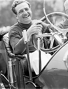 Briggs Swift Cunningham at wheel of vintage car during 1952 race weekend at Bridgehampton, NY, USA; PHOTO BY Ozzie Lyons 1952 / www.petelyons.com
