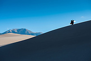 Backpacking in Great Sand Dunes National Park, Colorado.