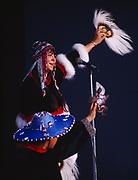 Alutiiq Dancers from Kodiak, Alaska performing at the Alaska State Fair, Palmer, Alaska.