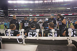 Jeff Stoutland with the offensive line; New York Giants vs Philadelphia Eagles at Lincoln Financial Field