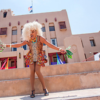 070613       Cable Hoover<br /> <br /> Miss New Mexico Pride 2013 Stella Martin performs during Gallup Pride Fest at the McKinley County Courthouse Square in downtown Gallup Saturday.