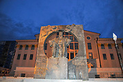 Monument of Ilia Chavchavadze, in front of the Batumi State Drama Theatre, Batumi, Adjara, Georgia