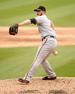 CHICAGO - MAY 01:  David Hess #41 of the Baltimore Orioles pitches against the Chicago White Sox on May 1, 2019 at Guaranteed Rate Field in Chicago, Illinois.  (Photo by Ron Vesely)  Subject:   David Hess