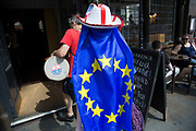 Pro Europe supporter with a European flag in London, England, United Kingdom. (photo by Mike Kemp/In Pictures via Getty Images)