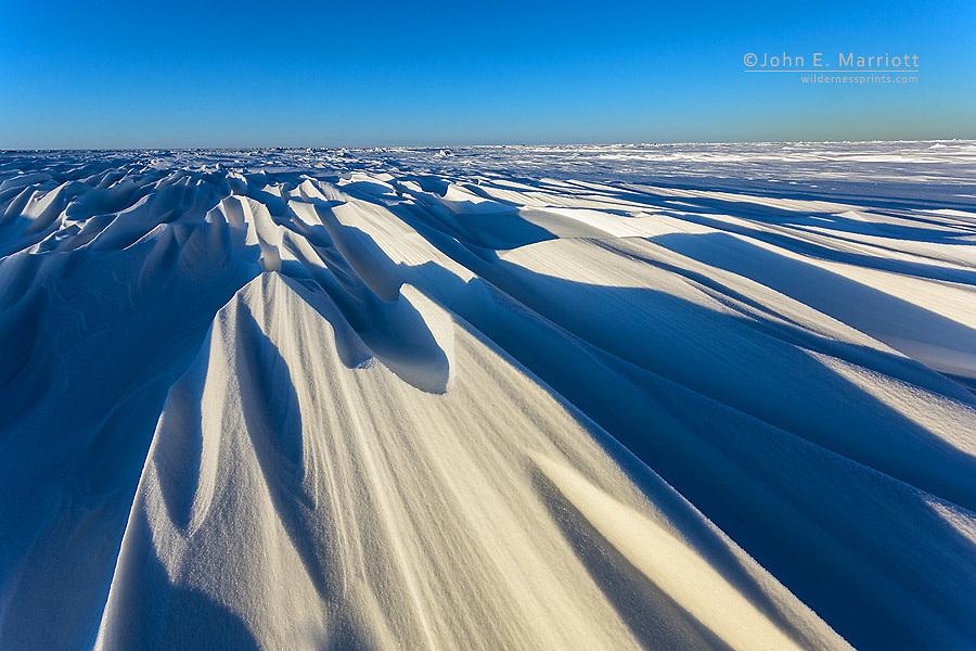 Windswept tundra near Arviat, Nunavut