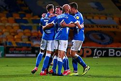 Barrow players celebrate their second goal - Mandatory by-line: Ryan Crockett/JMP - 27/10/2020 - FOOTBALL - One Call Stadium - Mansfield, England - Mansfield Town v Barrow - Sky Bet League Two