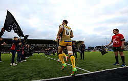 Chris Pennell of Worcester Warriors runs out to face Newcastle Falcons - Mandatory by-line: Robbie Stephenson/JMP - 28/04/2017 - RUGBY - Kingston Park - Newcastle upon Tyne, England - Newcastle Falcons v Worcester Warriors - Aviva Premiership