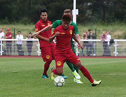 May 31, 2018 - London, United Kingdom - Tenzin Bhakdo of Tibet.during Conifa Paddy Power World Football Cup 2018  Group B match between  Abkhazia  against Tibet at Queen Elizabeth II Stadium (Enfield Town FC), London, on 31 May 2018  (Credit Image: © Kieran Galvin/NurPhoto via ZUMA Press)