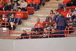 14 January 2017:  Redbirds #1 fan, Ron Krueger during an NCAA  MVC (Missouri Valley conference) mens basketball game between the Wichita State Shockers the Illinois State Redbirds in  Redbird Arena, Normal IL