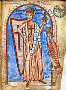 Frederick I (Barbarossa - Red Beard) c1123-1190. Holy Roman emperor from 1152. Miniature from Robert de Saint Remy 'History of the Third Crusade'. Vatican Library.