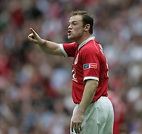 Photo: Lee Earle.<br /> Chelsea v Manchester United. The FA Cup Final. 19/05/2007.Man United's Wayne Rooney shows his frustration.