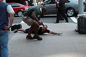 Unidentifed Man Subdued by Secret Service during Secret Service led Motorcade in New York City