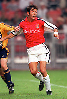 Robert Pires (Arsenal). Arsenal v Ajax, The Amsterdam Tournament, Amsterdam Arena, Holland, 5/8/2000. Credit Colorsport / Stuart MacFarlane.