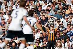 Andrew Robertson of Hull City takes a throw in - Photo mandatory by-line: Rogan Thomson/JMP - 07966 386802 - 16/05/2015 - SPORT - FOOTBALL - London, England - White Hart Lane - Tottenham Hotspur v Hull City - Barclays Premier League.