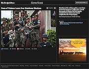 """Fears of Violence Loom Over Honduran Elections"", The New York Times, Mexico, November 22, 2013. Photographs by Rodrigo Cruz."