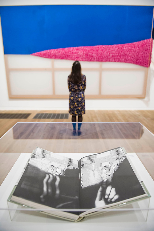 Season's Hottest Trend and Daphne (book) - Alibis a Sigmar Polke retrospective at the Tate Modern – he was viewed as one of the most experimental artists of recent times and the exhibition covers his full career, bringing together works from around the world in a huge variety of materials. Highlights include: Girlfriends – An iconic early Pop painting from 1965 of a bikini-clad girl; Potato House – Standing over 6 feet tall, this sculpture of a house is made from wooden lattices covered in real potatoes; Mao – A huge felt banner covered in scraps of cloth and painted with an image of Chairman Mao; Watchtowers – A series of neon-coloured paintings incorporating silver, resin, fabric and bubble-wrap; and other paintings made from such diverse materials as meteorite dust, soot, lead, coal, elastic bands and medical tape. The exhibition runs from 9 October 2014 – 8 February 2015.  Tate Modern, Bankside, London, UK 07 Oct 2014.