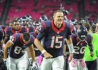 October 9th, 2014: Houston Texans Quarterback Ryan Mallett (15) during the Thursday Night Football game Houston Texans vs Indianapolis Colts at NRG Stadium in Houston, TX. NFL American Football Herren USA OCT 09 Colts at Texans PUBLICATIONxINxGERxSUIxAUTxHUNxRUSxSWExNORxONLY Icon14100914<br />