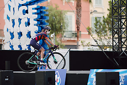 Hannah Barnes (GBR) at the 2020 La Course By Le Tour with FDJ, a 96 km road race in Nice, France on August 29, 2020. Photo by Sean Robinson/velofocus.com
