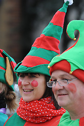 © Licensed to London News Pictures. 22/11/2013<br /> It was all about the Elf and Safety today (22.11.2013) at Gravesend Community Square,Gravesend in Kent as 948 elves arrived to break the world record for the highest number of elves in one place.  The event is part of Graveshams council Twelve Days of Christmas festival.The event was filmed by Guinness World records.<br /> Photo credit :LNP