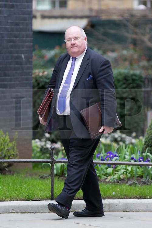 © Licensed to London News Pictures. 18/03/2014. London, UK. The Communities Secretary, Eric Pickles, arrives for a meeting of the British cabinet on Downing Street in London today (18/03/2014). Photo credit: Matt Cetti-Roberts/LNP