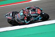 #20 Fabio Quatararo, French: Petronas Yamaha SRT on his way to pole position during the Motul Dutch TT MotoGP, TT Circuit, Assen, Netherlands on 29 June 2019.