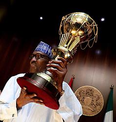 August 30, 2017 - Abuja, Nigeria - Nigeria's President Muhammadu Buhari receives Victorious African Basketball Champions (D'Tigress) in Abuja, Nigeria  August 30th 2017  (Credit Image: © Next24online/NurPhoto via ZUMA Press)