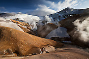 Kerlingarfjöll geothermal peninsula, central highlands Iceland