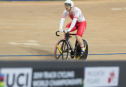 March 2, 2019 - Pruszkow, Poland - Mateusz Rudyk (POL) competes on day four of the UCI Track Cycling World Championships held in the BGZ BNP Paribas Velodrome Arena on March 02 2019 in Pruszkow, Poland. (Credit Image: © Foto Olimpik/NurPhoto via ZUMA Press)