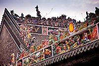 The spectacular carvings and lime sculptures on the Chen Family Ancestral Temple in Guangzhou.