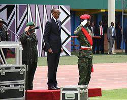 (170818) -- KIGALI, Aug. 18, 2017 (Xinhua) -- Rwandan President Paul Kagame (C) attends the inauguration ceremony in Kigali, capital of Rwanda, on Aug. 18, 2017. Paul Kagame on Friday was sworn in as president of Rwanda for his third term in Kigali. (Xinhua/Lyu Tianran) (Photo by Xinhua/Sipa USA)