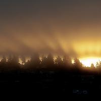 Dawn breaks on a ridge near Edmonds, Washington. Photo by William Byrne Drumm.