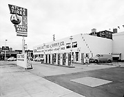 """Ackroyd 03653-4  """"standard Oil Co. Burns Brothers station exteriors. June 10, 1952"""" (621 SE Union Ave. between Washington and Alder."""