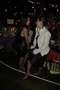 Annabel Neilson and Francesca Amfiterof, Party Belle Epoque hosted by The Royal Parks Foundation and Champagne Perrier Jouet. The Grand Spiegeltent, the Lido Lawns. Hyde Park. London. 14 September 2006. ONE TIME USE ONLY - DO NOT ARCHIVE  © Copyright Photograph by Dafydd Jones 66 Stockwell Park Rd. London SW9 0DA Tel 020 7733 0108 www.dafjones.com