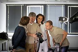 Henk van Cauwenbergh, Michèle George<br /> Foto shoot met Henk van Cauwenbergh voor KBRSF - Zaventem 2018<br /> © Hippo Foto - Dirk Caremans<br /> 01/05/2018