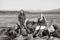 Hannah and Alex portrait session at Lake Shore Park.<br />  ©2015 Karen Bobotas Photographer