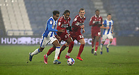Huddersfield Town's Demeaco Duhaney battles with Middlesbrough's Djed Spence<br /> <br /> Photographer Stephen White/CameraSport<br /> <br /> The EFL Sky Bet Championship - Huddersfield Town v Middlesbrough - Saturday 28th November 2020 - The John Smith's Stadium - Huddersfield<br /> <br /> World Copyright © 2020 CameraSport. All rights reserved. 43 Linden Ave. Countesthorpe. Leicester. England. LE8 5PG - Tel: +44 (0) 116 277 4147 - admin@camerasport.com - www.camerasport.com