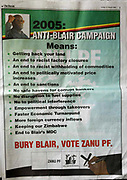 A Zanu PF advertisement in The Herald newspaper, Zimbabwe.