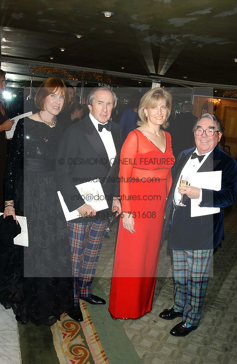Left to right, SIR & LADY JACKIE STEWART, HRH The COUNTESS OF WESSEX and RONNIE CORBETT at the Dyslexia Awards Dinner attended by HRH The Countess of Wessex held at The Dorchester Hotel, Park Lane, London on 9th November 2005.<br /><br />NON EXCLUSIVE - WORLD RIGHTS