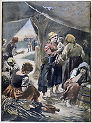 Boer families in British prison camp. 2nd Boer War 1899-1902. From 'Le Petit Journal', Paris, 20 January 1901
