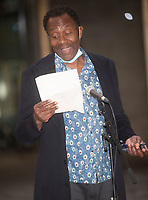 Sir Lenny Henry at the National Theatre to support  the appeal to raise funds to support jobs across the Arts Photo by Mark Anton Smith