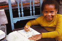 African American grade school girl