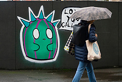 Glasgow, Scotland, UK. 1 November 2020. The Scottish Government today announced that from Friday 20 November, the most severe level 4 lockdown will be introduced in eleven Scottish council areas. This means non essential shops will close and bars, restaurants and cafes. Pictured;  Coronavirus graffiti . Iain Masterton/Alamy Live News