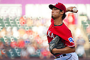 ARLINGTON, TX - JULY 09:  Yu Darvish #11 of the Texas Rangers pitches during the second inning against the Houston Astros on July 9, 2014 at Globe Life Park in Arlington in Arlington, Texas.  (Photo by Cooper Neill/Getty Images) *** Local Caption *** Yu Darvish