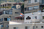 Israel, Upper Galilee, The Druze village of Peki'in The Druse flag