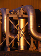 Design of pipelines entering the Main Pump Building at Pump Station 3, Alyeska Pipeline Service Company, Alaska.