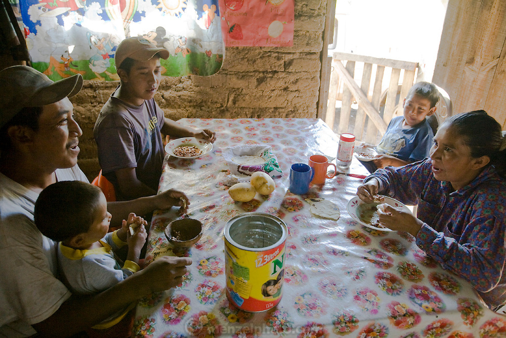 The family of Pima rancher José Angel Galaviz enjoys breakfast at his home in the Sierra Mountains  near Maycoba, in the Mexican state of Sonora. (José Angel Galaviz Carrillo is featured in the book What I Eat: Around the World in 80 Diets.)