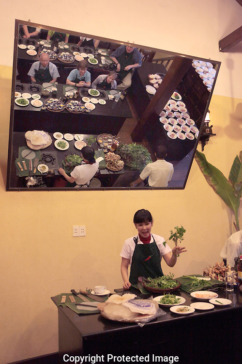 A cooking class in Hoi An Vietnam. The class was at Morning Glory  restaurant.  Photograph by Dennis Brack